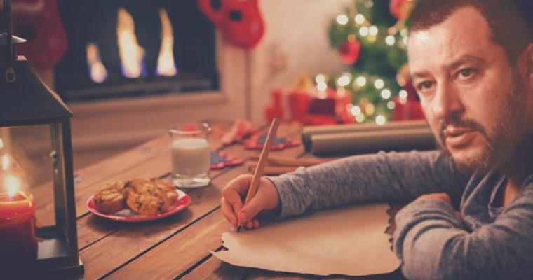 La lettera di Salvini a Babbo Natale